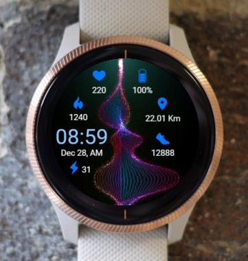 Garmin Watch Face - B Cosmic Spiral