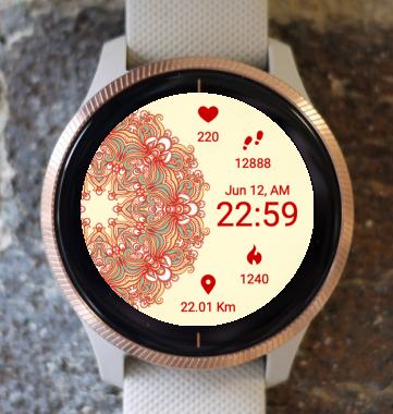 Garmin Watch Face - Mandala R1
