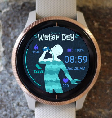 Garmin Watch Face - Water day