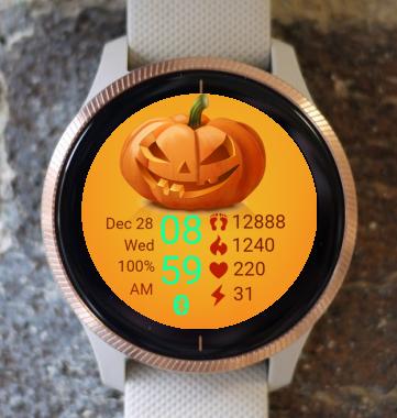 Garmin Watch Face - Pumpkin Smile 02