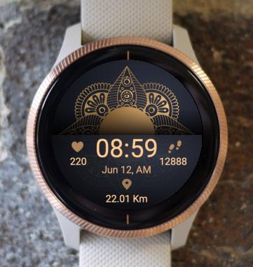 Garmin Watch Face - Mandala XS