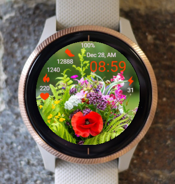Garmin Watch Face - R Wild Flower