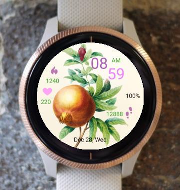 Garmin Watch Face - pomegranate
