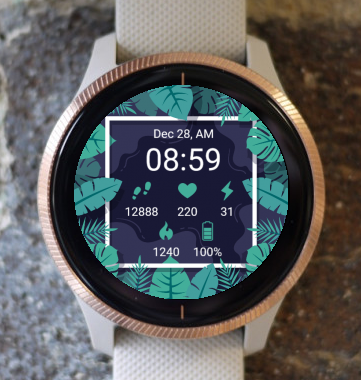Garmin Watch Face - Nature Leaves G