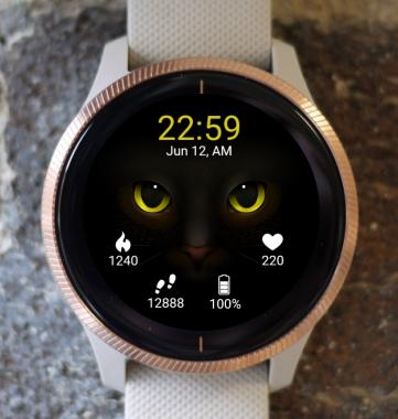 Garmin Watch Face - Cat Eyes