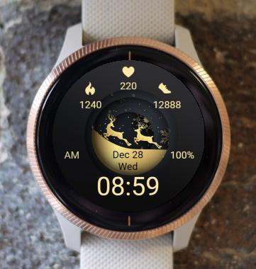 Garmin Watch Face - Christmas Globe