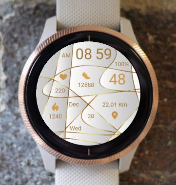 Garmin Watch Face - Gold Lines