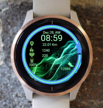 Garmin Watch Face - Wave In Infinity 1