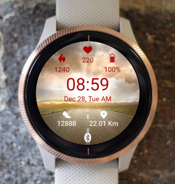 Garmin Watch Face - Sunrise Road