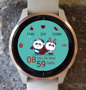Garmin Watch Face - Winter Panda