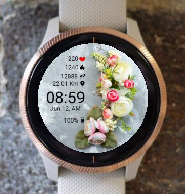 Garmin Watch Face - BW Flower 34