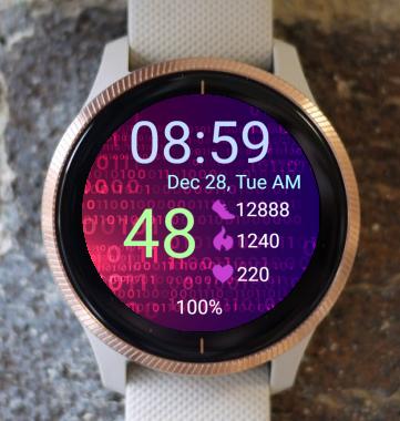 Garmin Watch Face - Red Matrix