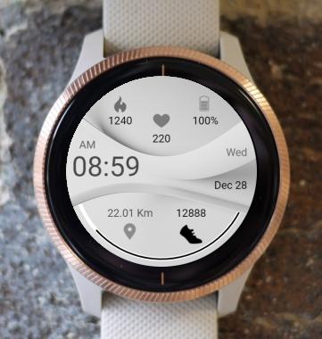 Garmin Watch Face - White Wave