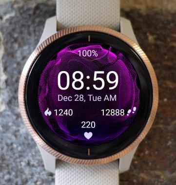 Garmin Watch Face - Purple Bubble