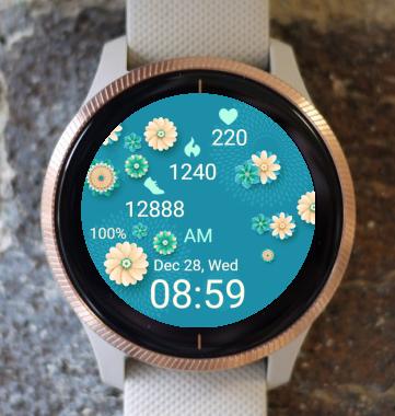 Garmin Watch Face - Spring Blue