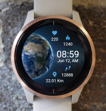 Garmin Watch Face - Planet Earth
