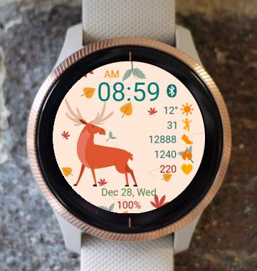 Garmin Watch Face - Autumn Deer