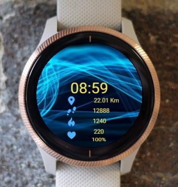 Garmin Watch Face - Between Acoustic Waves