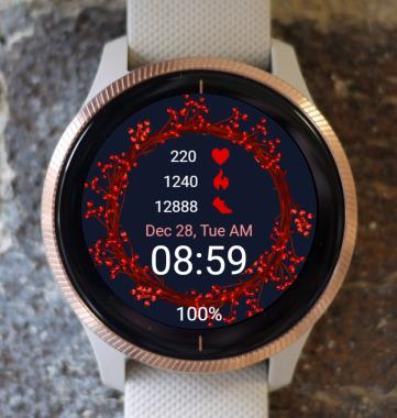 Garmin Watch Face - Red Ring