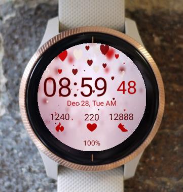 Garmin Watch Face - Hearts 01