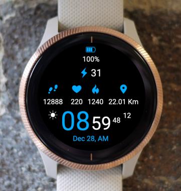 Garmin Watch Face - Sport Blue